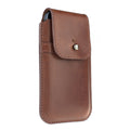 Barrett Belt Clip Holster for Apple iPhone 5/5s - Horween Essex Dark Cognac Leather
