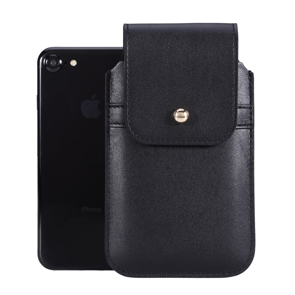 Black Leather - Barrett 2017 Holster Case for iPhone 8 - Blacksmith-Labs