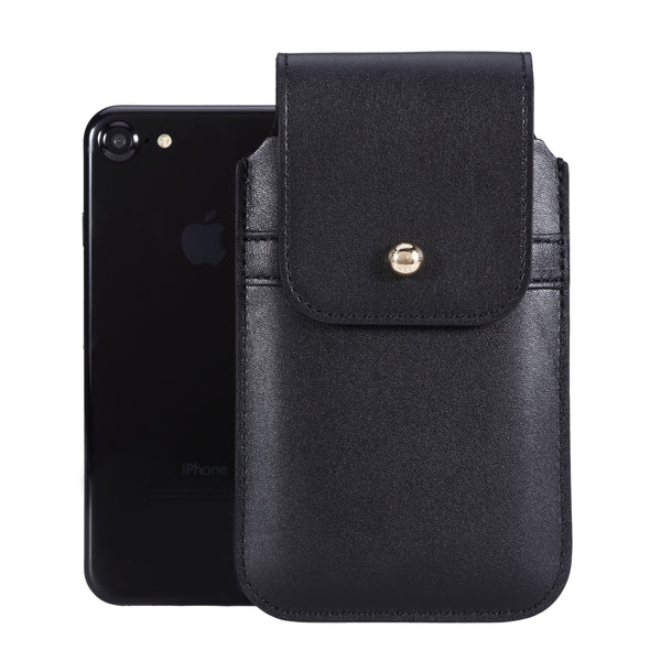 Barrett 2017 Belt Clip Holster for Apple iPhone 6/6s/7 (4.7 inch screen) - Black Cowhide Leather Finish