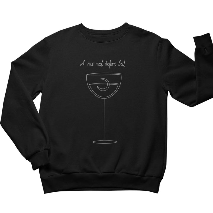 A nice red before bed - Bio Sweatshirt Unisex - Weinspirits