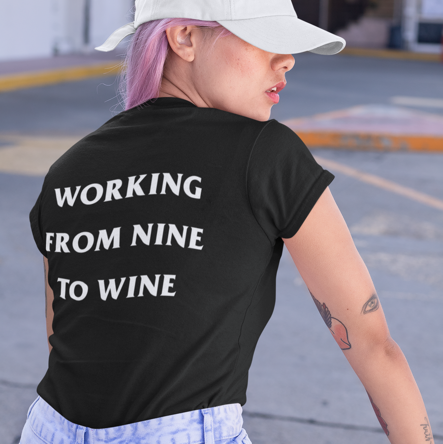 working from nine to wine - Shirt Damen - Weinspirits