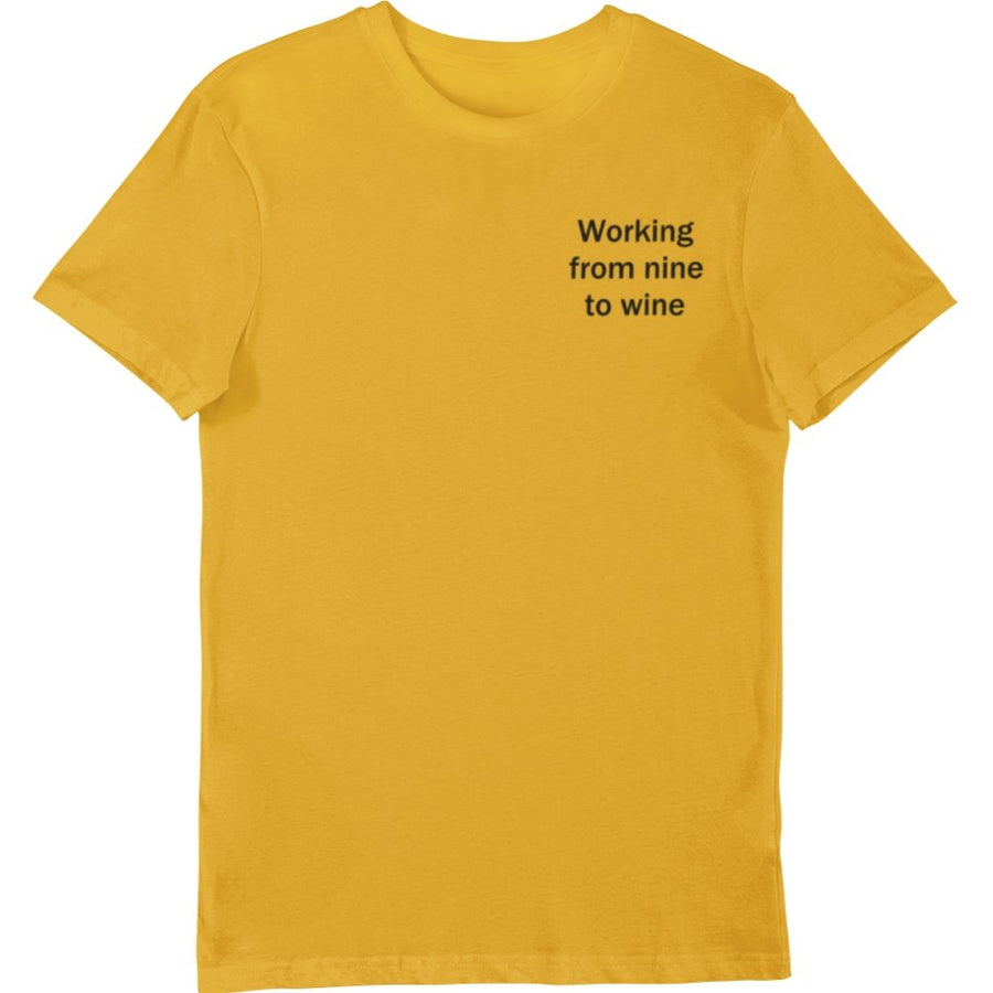 Nine to wine - Bio Shirt Herren - Weinspirits