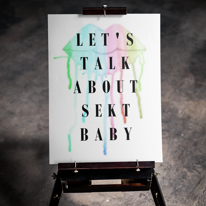 Let's talk about - Premium Poster 3:4 - Weinspirits