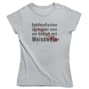Rotweinflecken - Premium Shirt Damen - Weinspirits