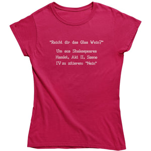 Shakespeare - Shirt Damen - Weinspirits