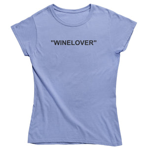 """WINELOVER"" - Bio Shirt Damen - Weinspirits"