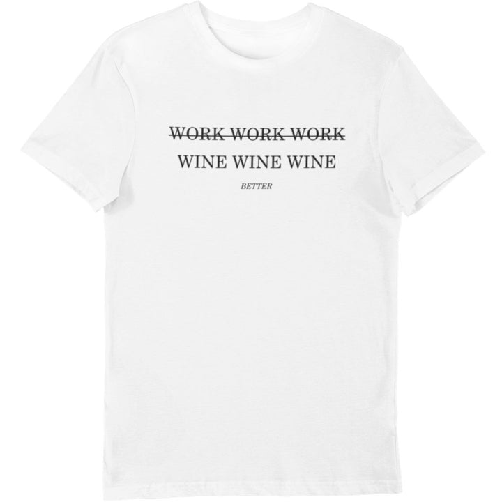Work Wine - Bio Shirt Herren - Weinspirits