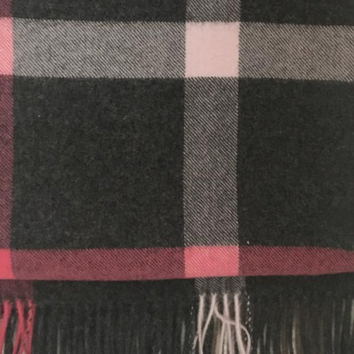 plaid throw linen way colorado baby alpaca fuchsia grey bark hot pink