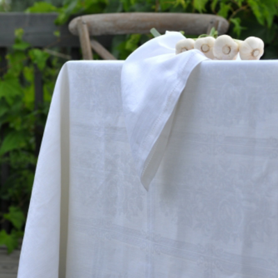 Linen Way Natalie White Tablecloth