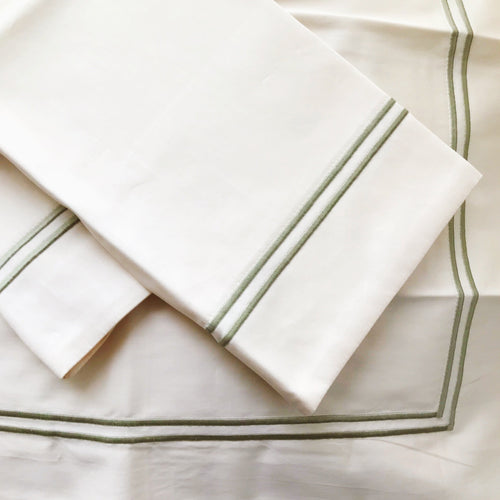 St-Geneve 'Capri Double-Stich' Sheet Set