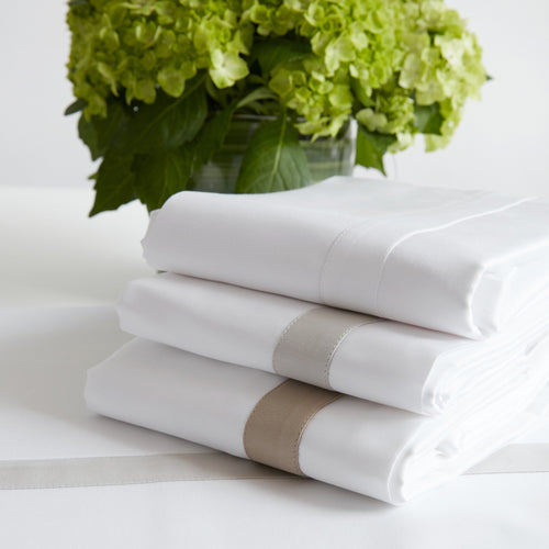 Valeria, Luxury Sheeting with Trim - TOILE SIGNATURE SHEET SETS