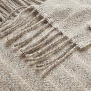 Lanerossi Cuzco Herringbone Throw Wool Alpaca Blend Light Beige