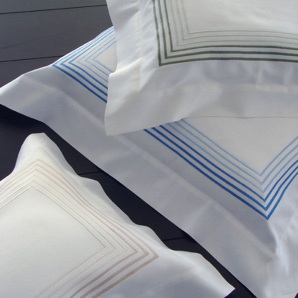 Dea 'Milano'  6 Line Embroidery Duvet Cover & Shams