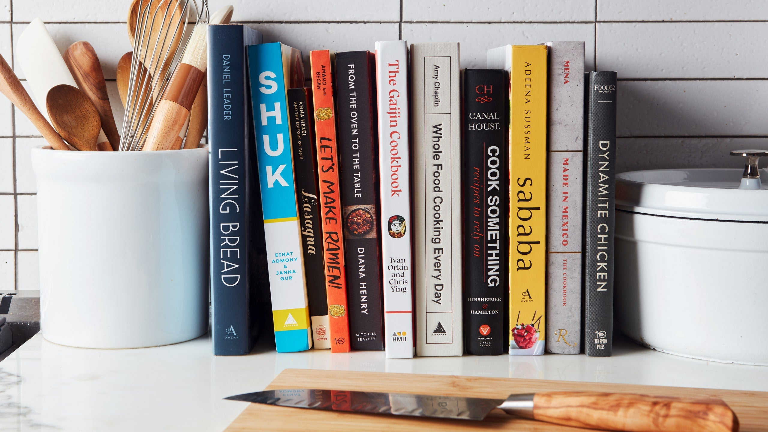 Cookbooks for Decor - Kitchen Home Staging