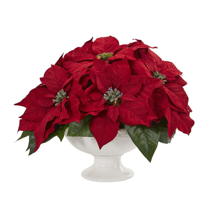 Poinsettia Artificial Arrangement in Urn