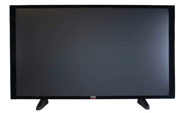 "55"" TV Prop Plasma-LED-LCD TV in Gloss Black with Removable Stand"