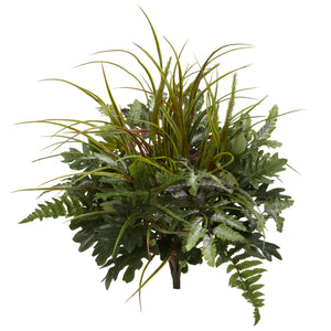 "28"" Mix Greens Artificial Plant (Set of 2) - Home Staging Warehouse"