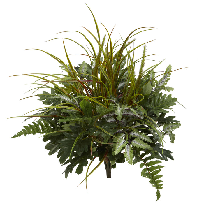"28"" Mix Greens Artificial Plant (Set of 2)"
