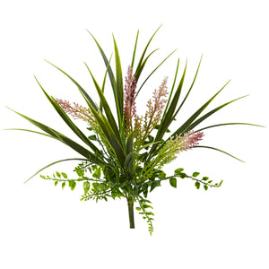 "11"" Grass and Fern Artificial Plant (Set of 12) - Home Staging Warehouse"