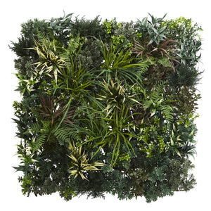 3' x 3' Greens & Fern Artificial Living Wall UV Resist (Indoor/Outdoor) - Home Staging Warehouse