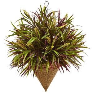 "29"" Autumn Grass Hanging Basket Artificial Plant"