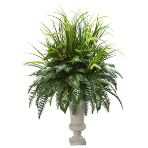 "42"" Mixed Greens Artificial Plant in Urn"