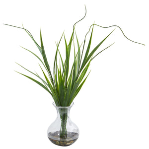 Grass Artificial Plant in Vase (Set of 3) - Large View - Home Staging Warehouse