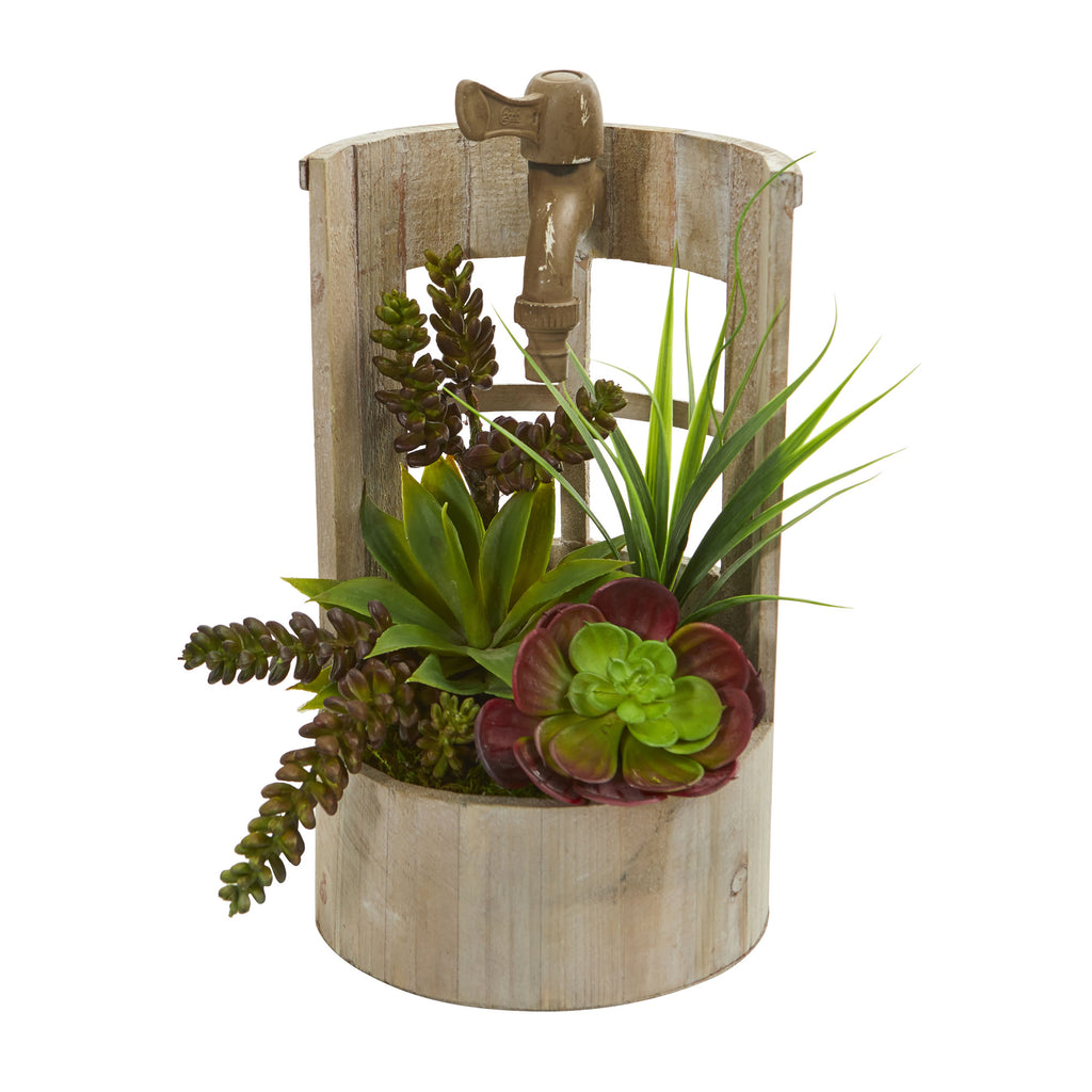 Succulent Garden Artificial Plant in Decorative Planter