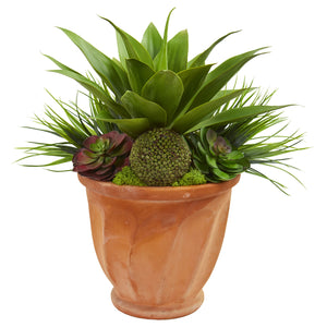 Succulent Garden Artificial Plant in Terra Cotta Planter