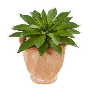 Giant Succulent Artificial Plant In Terra Cotta Planter