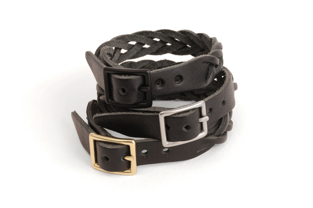 Braided Leather Bracelet - Black