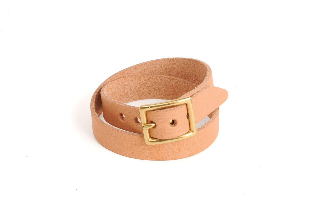 Double Wrap Leather Bracelet - Natural