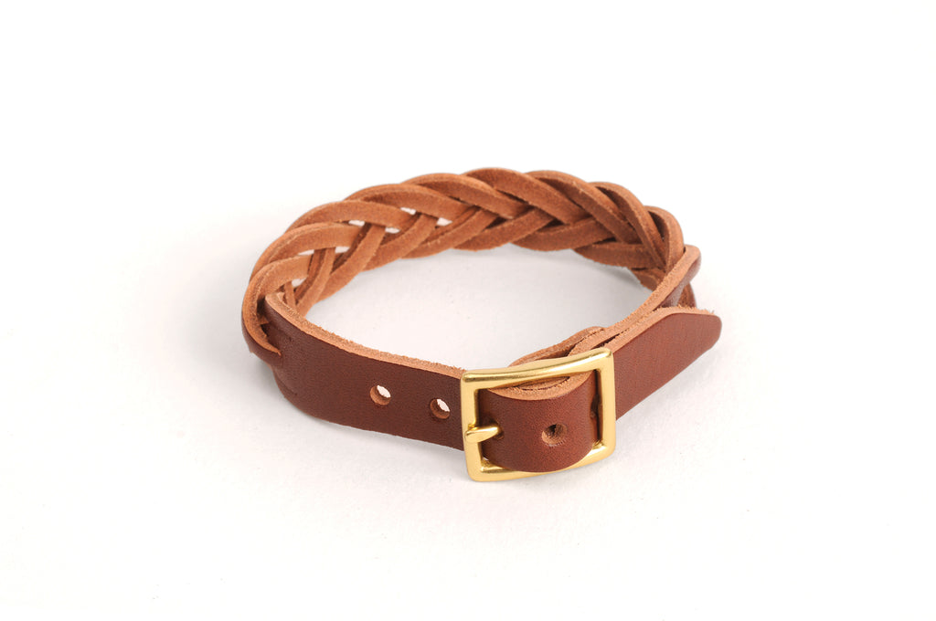 Braided Leather Bracelet - Mahogany