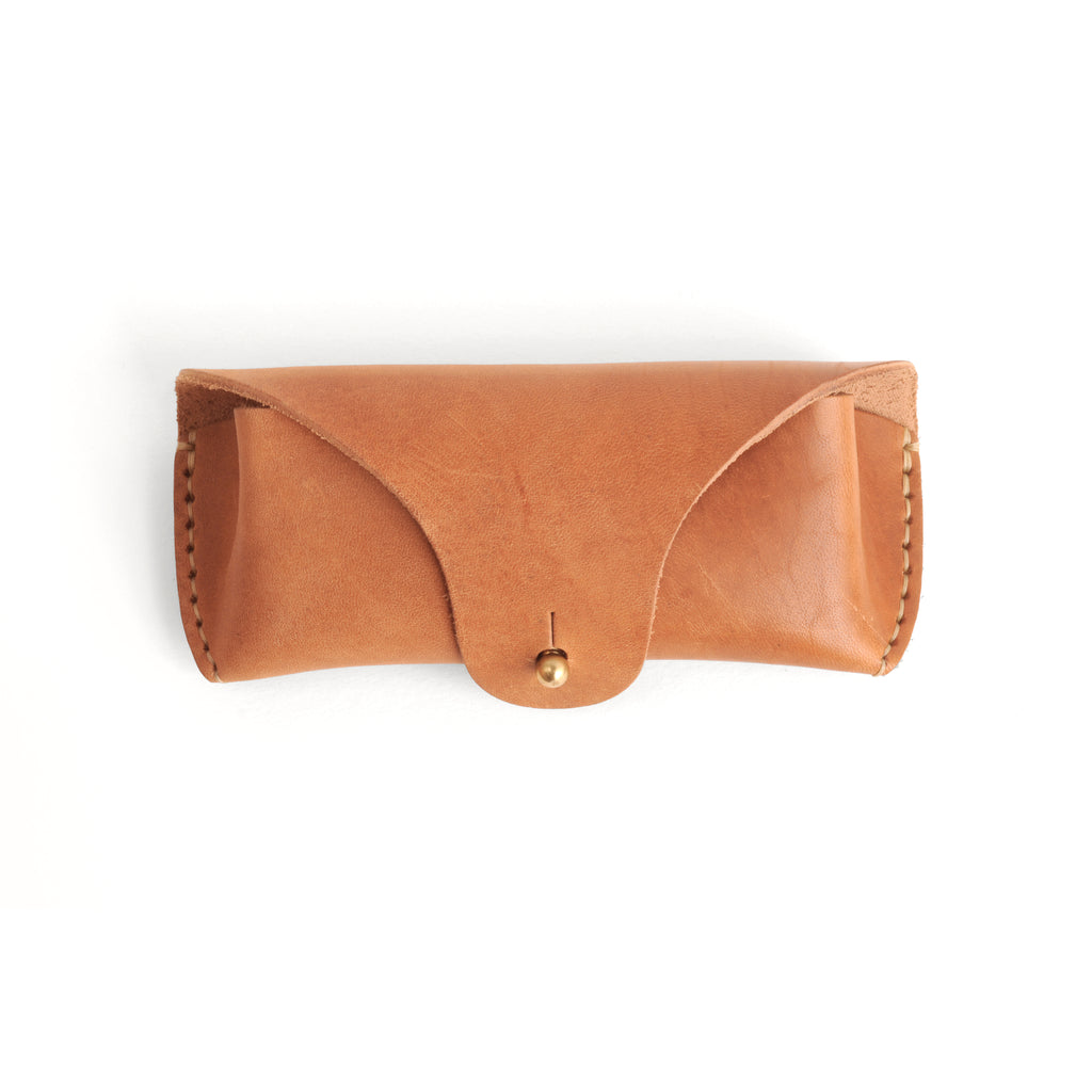 Leather Eyeglass Case - Natural Horween Horse Hide
