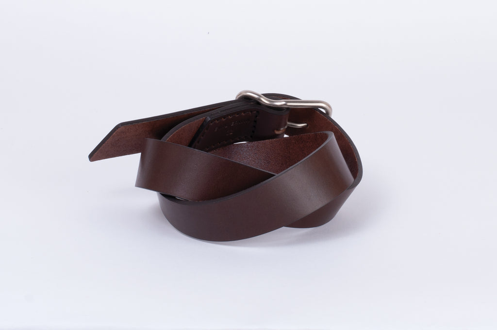 Leather Belt - Walnut - Nickel