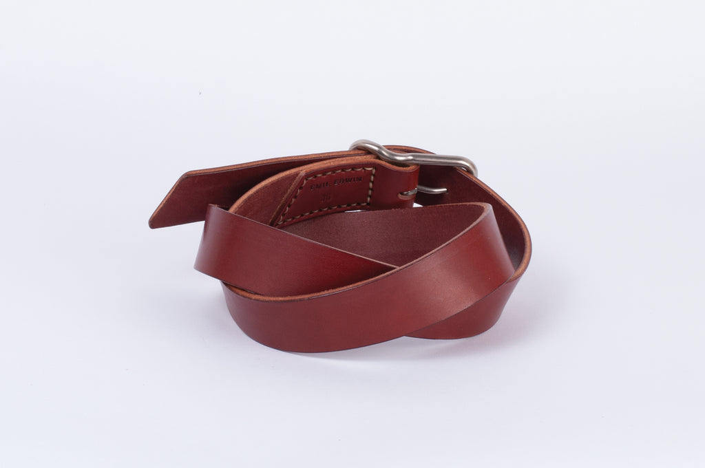 Leather Belt - Chestnut - Nickel