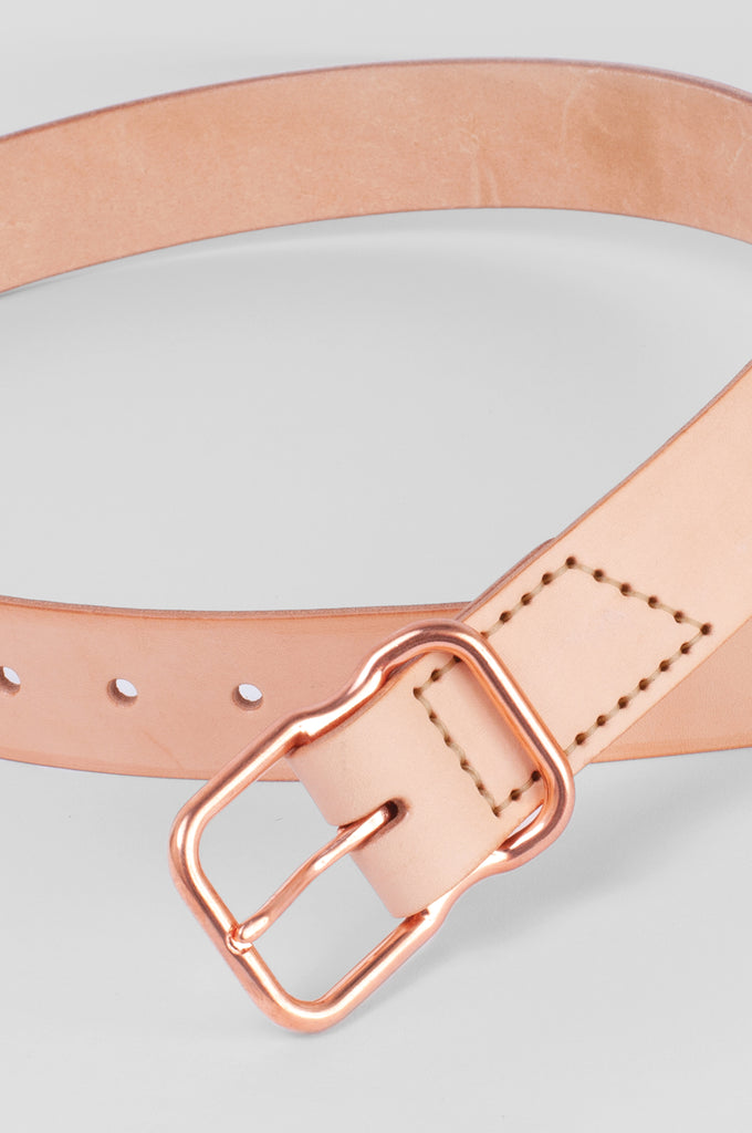 Leather Belt - Natural Veg Tan - copper