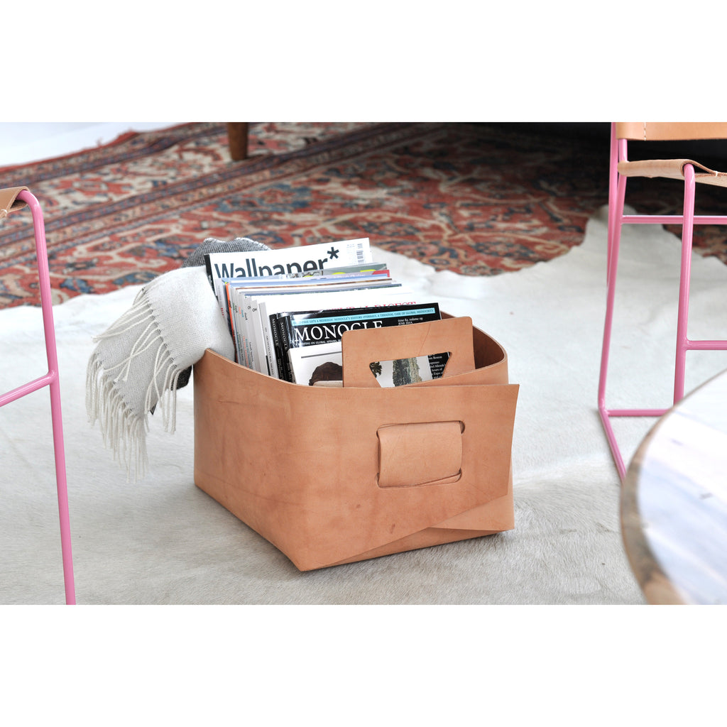Leather Bin - Small