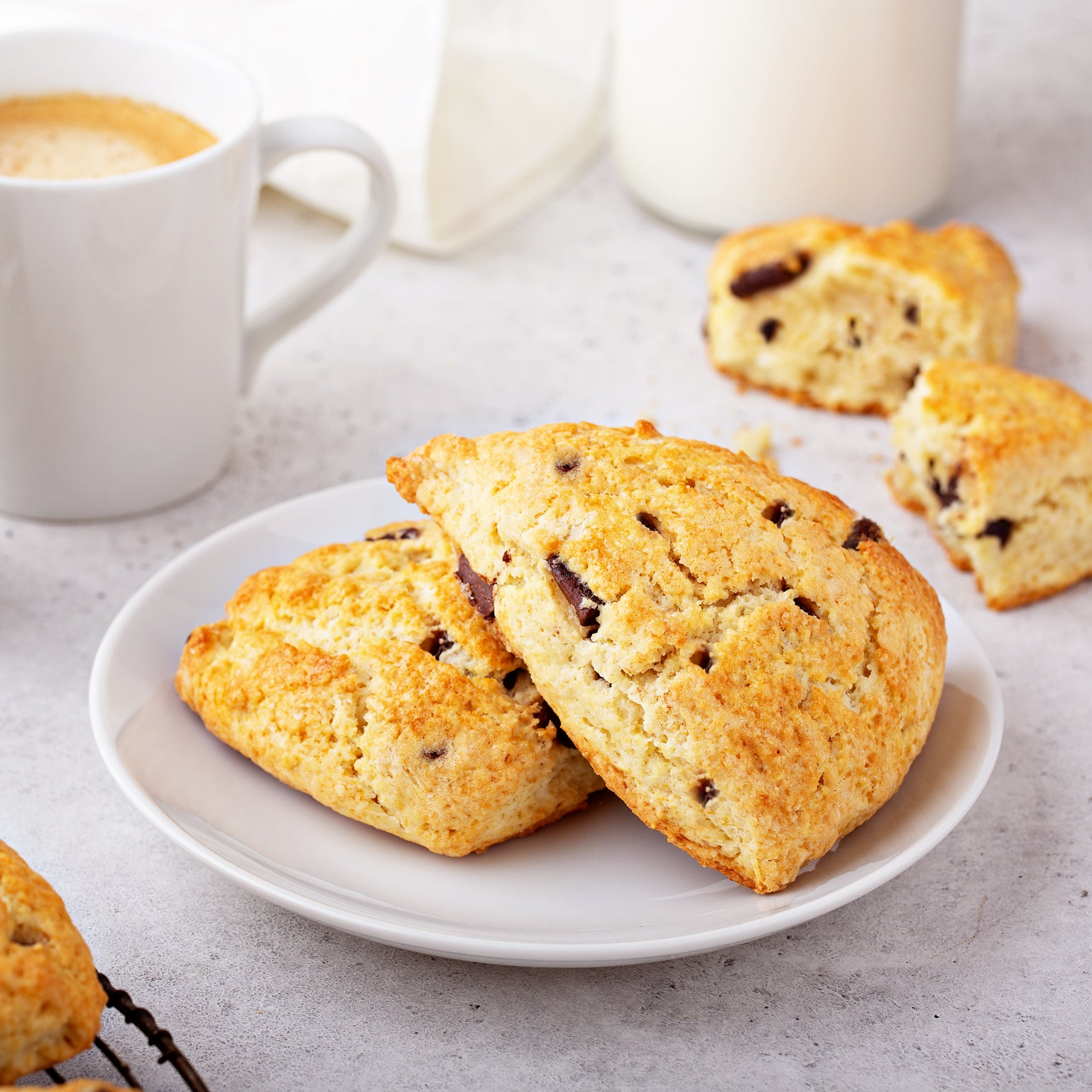Chocolate Cranberry Scones