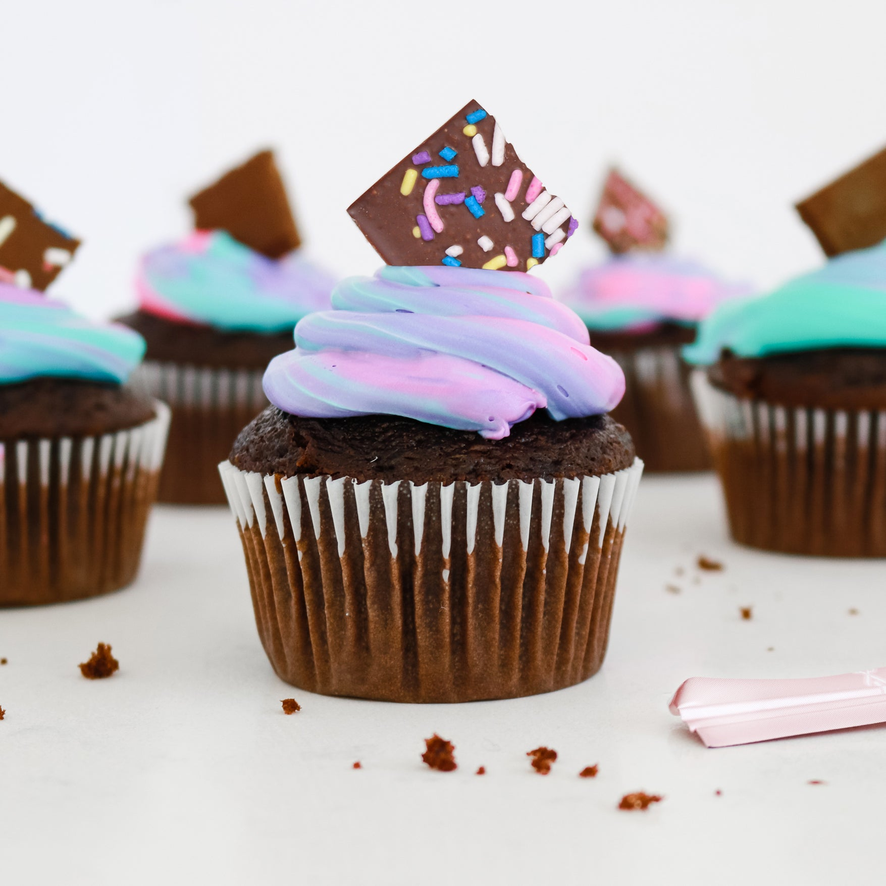 Chocolate Unicorn Cupcakes