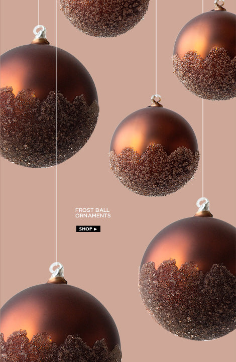 Frost ball ornaments