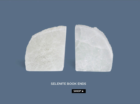 selenite book ends