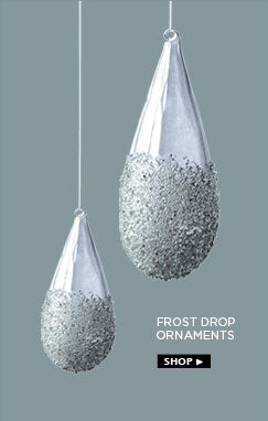 Frost drop ornaments