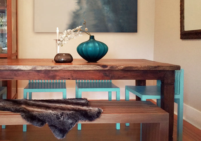 Touch of Turquoise - Dining Room