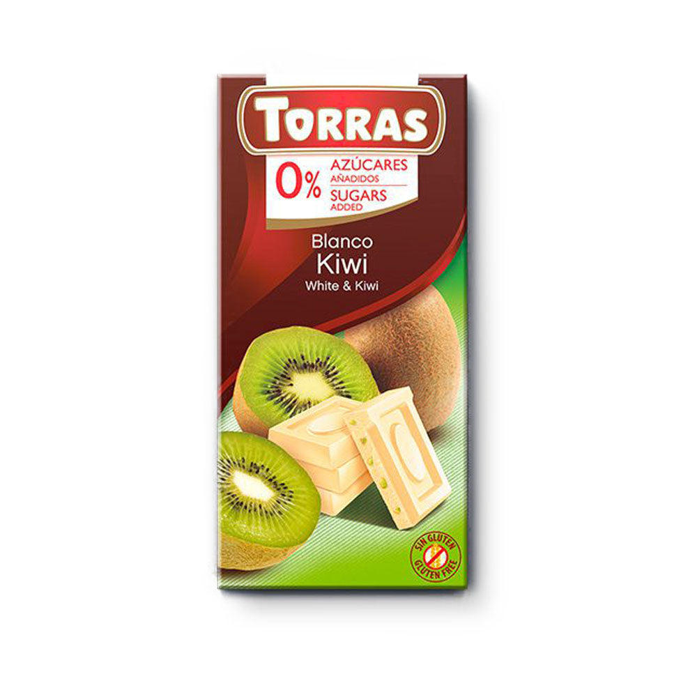 Chocolate Blanco con Kiwi 75 gr
