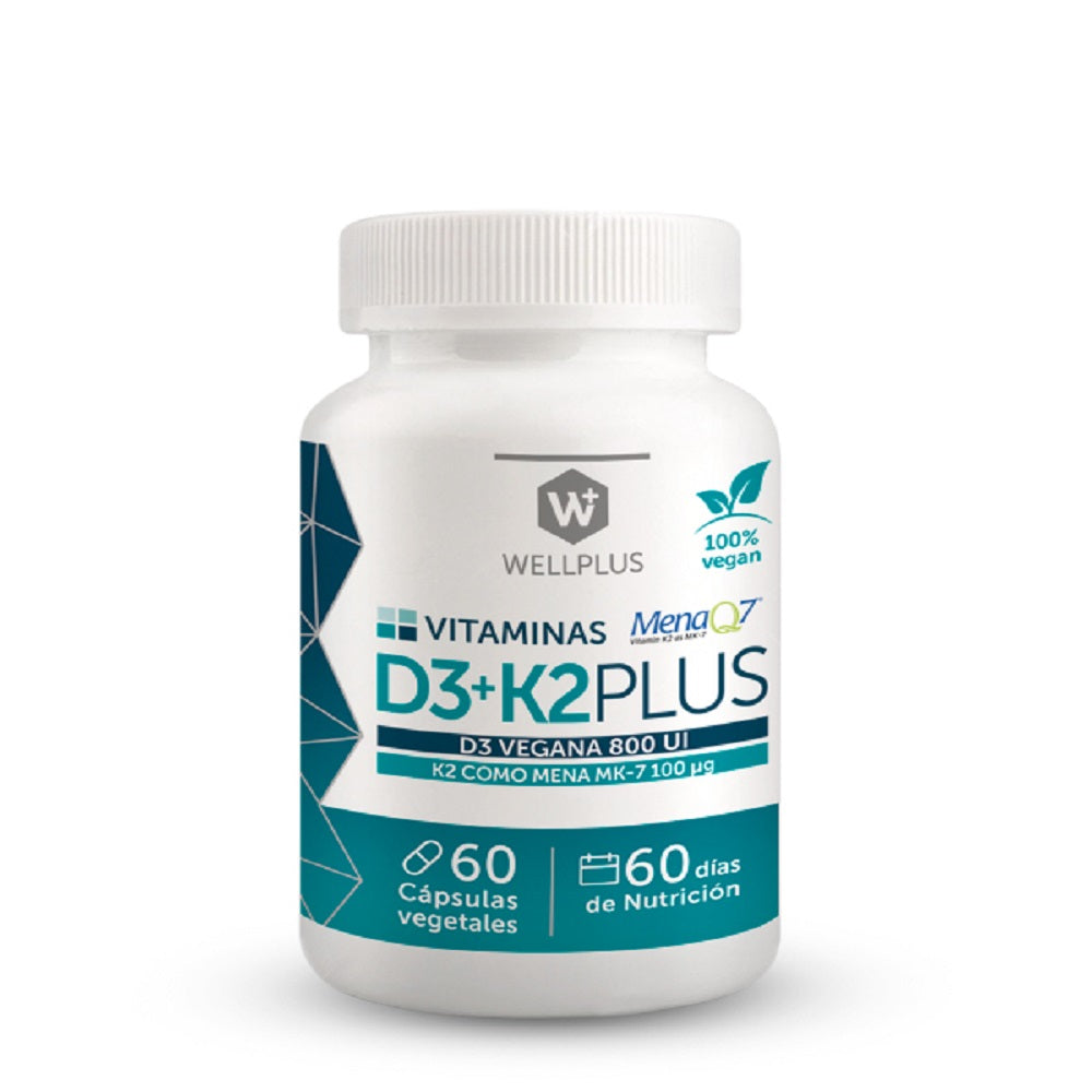 Vitamina D3 + K2 Plus 60 Cápsulas