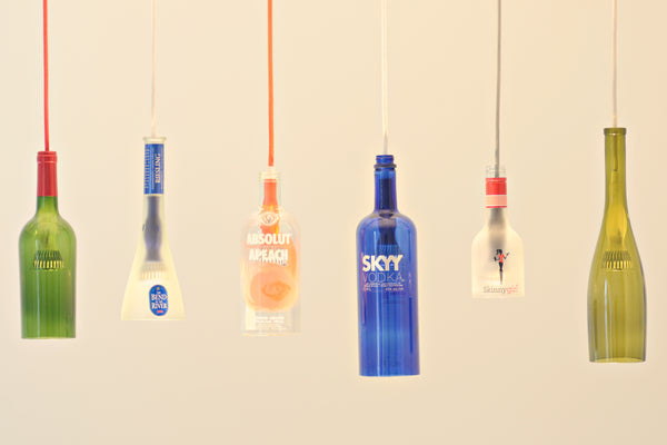 The Kinkajou bottle cutter and the Firefly pendant light kit will allow for some beautiful unique personal touches in the home while up-cycling some of ... & Firefly LED Pendant Lights u2013 Bottle Cutting Inc. azcodes.com