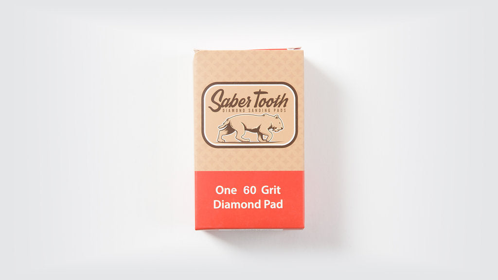 Saber Tooth Diamond Sanding Pad 60 Grit Single