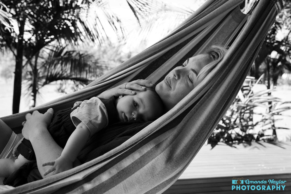 Mom and child in a hammock | Quiet Time Photo Challenge
