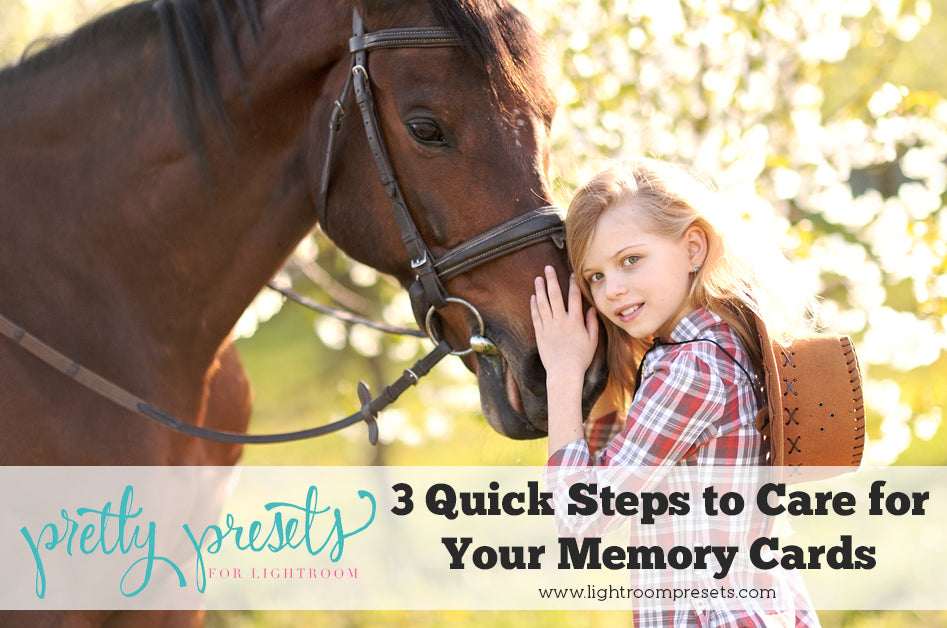 3 Quick Steps to Care for Your Memory Cards | Pretty Presets Photography Tutorial